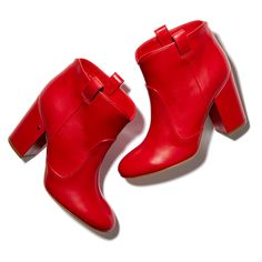 These pull-on leather ankle boots—in red, no less—are both the ultimate statement and surprisingly versatile.