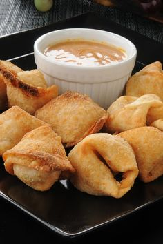 There's water chestnuts in these Crab Rangoons, sounds amazing!!