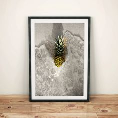 Pineapple Print Pineapple Decor Tropical Wall Art by shakarts