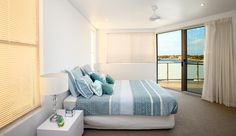 The master bedroom with access onto one of the 3 balconies!