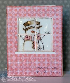 Cute.use new window die for a much cuter card.