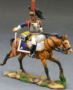 Napoleon's Grande Armee NA117 Cuirassier Charging with Sword - Made by King and Country Military Miniatures and Models. Factory made, hand assembled, painted and boxed in a padded decorative box. Excellent gift for the enthusiast.