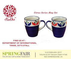 The Spring Fair 2017 is from 5th-9th February, 2017, at NEC Birmingham, UK. Silkoak Global is the official Handicraft Participant at the fair. Find us at the Department of International Trade, DIT's Stall. #SpringFair2017 #gift #HomeTrade #B2B #ceramic #homedecor #handicraft #UK #lifestyle