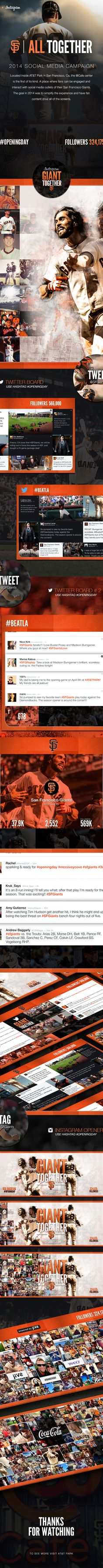 An Excellent Social Media Campaign!  SF Giants Social Media Campaign 2014 by Tony DeAngelo, via Behance