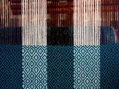 Weave (Andrei.P) Tags: travel blue colour wool peru thread places olympus weaving genre womensweavingcoop ccaccaccollo omdem5