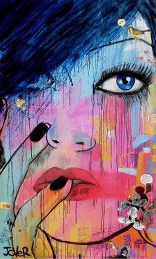 "Saatchi Online Artist Loui Jover; Mixed Media, ""moments and echoes - (canvas) "" #art"