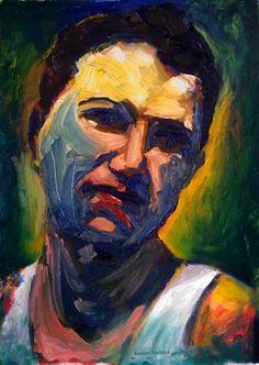 Self Portrait by Rassen Haddad 2013 Drawing Skills, Drawings, Artwork, Painting, Work Of Art, Auguste Rodin Artwork, Painting Art, Sketches, Artworks