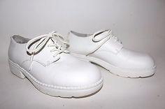 Truffles White Leather Walking Nursing Sneakers Shoes Women's 9.5 M