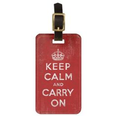 $11.95 Keep Calm and Carry On, Vintage Personalized Luggage Tags by cutencomfy