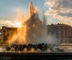 Hochstrahlbrunnen Heart Of Europe, Vienna Austria, Niagara Falls, Beautiful Places, Nature, Travel, Fountain, Spot Lights, Naturaleza
