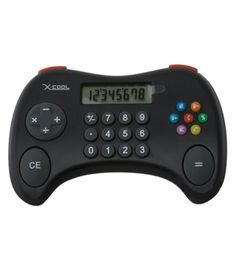 Cool Gamer Calculator! The kids won't mind math homework with this hip number-crunching gadget. Featuring all of the standard calculator functions,but in that oh-so-familiar game pad style.