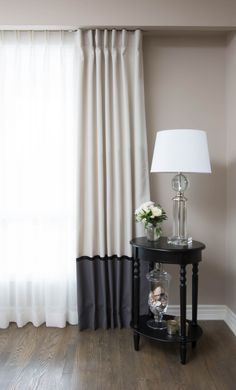 drapery curtain panels, canadian made, custom, banding, ribbon, pleated, banded, white and gray, readymade drapes, readymade curtains, buy drapes online, buy curtains online