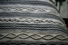cable stitches blanket...oh my!
