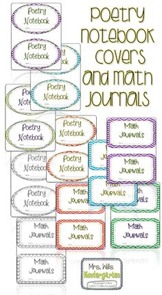math and poetry notebook covers