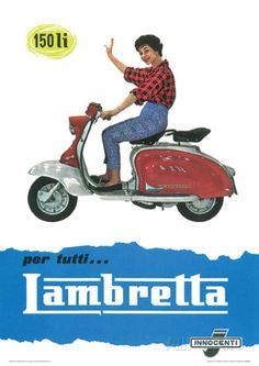 Lambretta Scooter (150 Li) Vintage Style Poster Masterprint at AllPosters.com