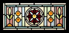 Enchanting English Victorian Stained Glass Transom | eBay