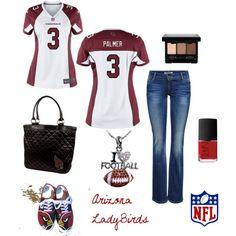 """Carson Palmer QB Arizona Cardinals NFL"" by arizonaladybirds on Polyvore"