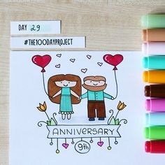 Today is our 9th Wedding Anniversary   #100daysofdooodles2 #100dayproject #100daysproject #drawing #doodle #markers #copic #love #couple #anniversary #cute #weddinganniversary #instaart #art #рисунок #творчество #годовщинасвадьбы #любовь