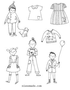 Paper Doll Cut-Outs (Diversity Printable, K-2nd Grade