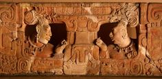 Throne with Two Figures in Eyes of Mask Detail Maya Culture (Piedras Negras, Guatemala)