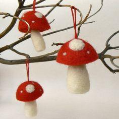 Toadstool ornaments