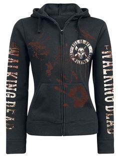 The Walking Dead Kill or Die female zipper hoodie, Frauen Kapuzenjacke   Amazon.de  Bekleidung 592448fe0d