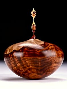Cocobolo Burl with Desert Ironwood. Artist: Jim Syvertsen.