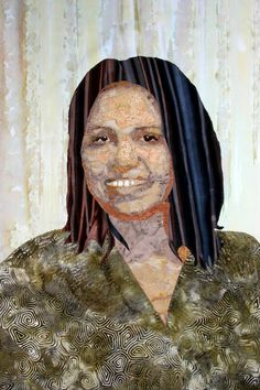 Nora, Maggie Dillon, figurative art textiles, machine embroidery, embellishment, art quilting, http://maggie-dillon-designs.blogspot.ca/, textile portrait