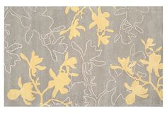 Linden Rug, Gray/Yellow - loving this rug