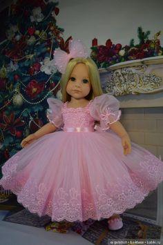 """Нарядное платьице для куколки Готц """"Нежная роза""""(еще одно:) / Одежда для кукол / Шопик. Продать купить куклу / Бэйбики. Куклы фото. Одежда для кукол"""