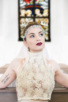 Bridal Fashion shooting - church, faszinator, headpeace, fashionmodal, Wedding, Photography