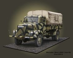 Mercedes-Benz cargo truck. Army Vehicles, Armored Vehicles, Military Modelling, Military Diorama, Ww2 Tanks, Military Weapons, German Army, Tamiya, War Machine