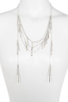 Drape Bar Chain Necklace