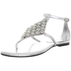 Lauren Jones Women's Fiona Flat - Like it, the jewels are nice quality and the silver bottom makes it more formal than some strappy sandals, but I'm going for a different more comfie option.
