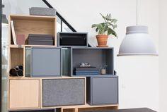 Muuto stacked system, showroom in Copenhagen, new nordic, scandinavian design, interiors, office space - Crioll studio / design shop Eindhoven