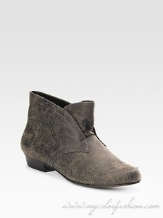 Elizabeth and James Distressed Leather Ankle Boots