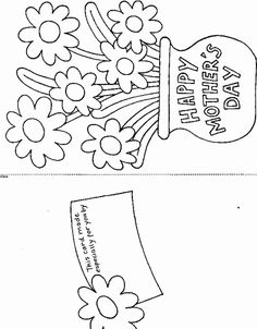 Print Printable Mother's Day Card coloring page & book. Your own Printable Mother's Day Card printable coloring page. With over 4000 coloring pages including Printable Mother's Day Card . Mothers Day Coloring Sheets, Coloring Pages For Kids, Coloring Books, Free Coloring, Kids Coloring, Mothers Day Crafts For Kids, Fathers Day Crafts, Happy Mothers Day, Mothers Day Book