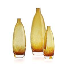 Bolla Orange Vases  | Crate and Barrel
