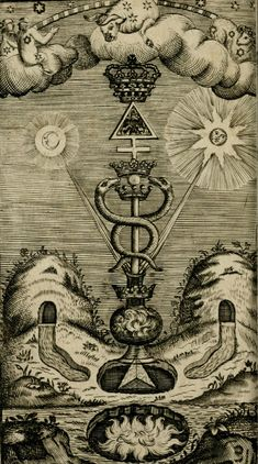 "Alchemy: From ""The Hermetical Triumph: Or, The Victorious Philosophical Stone, a… Occult Symbols, Occult Art, Old Symbols, Masonic Symbols, Ancient Symbols, Magick, Witchcraft, Alchemy Art, Esoteric Art"