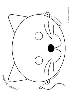 Printable Animal Masks: Cat Mask Cat Mask Coloring Page – Craft Jr.