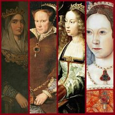 Mary Tudor and her maternal grandmother, Isabel of Castile.