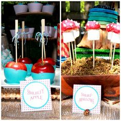blue dipped apples
