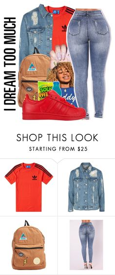 """""""You ain't gone ride for me"""" by littydee ❤ liked on Polyvore featuring adidas, Topshop and Billabong"""