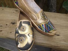 star wars c-3po inspired shoes on Etsy, $50.00