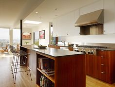 rutledge st. residence - from open kitchen to the view - modern - kitchen - san francisco - building Lab, inc.