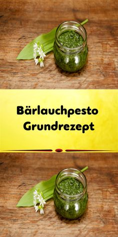 Bärlauchpesto Grundrezept Together with the beginning of spring, the wild garlic, also known as fore Quick Paleo Meals, Easy Paleo Dinner Recipes, Easy Healthy Dinners, Vegetable Recipes, Wild Garlic Pesto, Beef Flank Steak, Pesto Dip, Sauces, Homemade Syrup