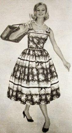 OĞUZ TOPOĞLU : claire comte 1959 yazlık elbise modelleri