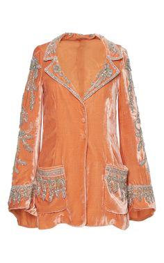 Embroidered velvet jacket by Roberto Cavalli