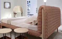 Ligne-roset inga sempe- ruche bed c Ligne Roset, Custom Furniture, Furniture Design, Furniture Ideas, Headboards For Beds, Sleep, Sofa, Living Room, Interior