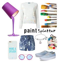"""Make a Splash"" by willastyle ❤ liked on Polyvore featuring Casetify, Kate Spade, Yves Saint Laurent, Polo Ralph Lauren, Wildfox, Marc Jacobs and paintsplatter"